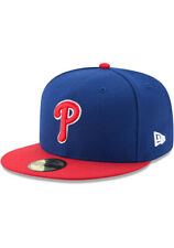 New Era 59Fifty Hat MLB Mens Philadelphia Phillies Blue Fitted 5950 onfield