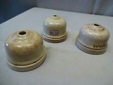 Antique Electric Ceiling Rose Switch Porcelain Wire Connector Fitting Socket*H-3