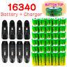 Skywolfeye 16340 Battery 1800mAh Li-ion 3.7V Rechargeable For Camera Flashlights