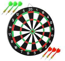 Dart Board Dartboard with 6 Darts Party Game Set