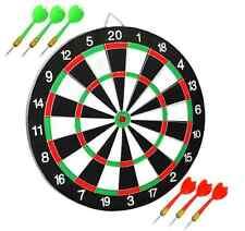 Dart Board Dartboard with 6 Darts Party Game Set