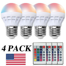 4x E27 LED Light Bulb Lamp 3W RGB Magic 16 Multi Color With IR Remote Control US