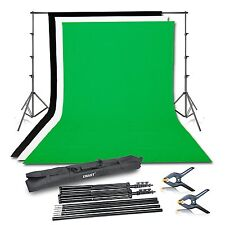 Emart Photography Photo Video Studio Background Stand Support Kit with 3 Colors
