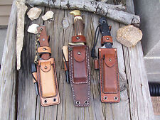"LF Custom Leather Survivor Sheath 4""-7"" Blade Custom Made for Any Knife"