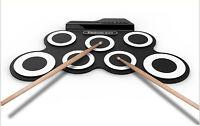 Electronic Drum Set Kit USB MIDI Rollup Light Portable Educational Entry-Level