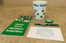 Vintage Ohio University 1981-82 Basketball press guide and other fun items