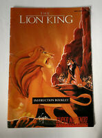 The Lion King - Instruction Booklet Manual Only Super Nintendo SNES
