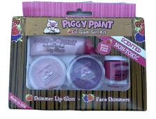 Piggy Paint Lil' Glam Girl Kit Nail Polish Shimmer Lip Gloss Face Shimmers New