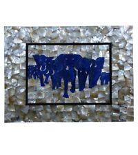 Elephant Coffee 3'x2' Corner Center Table Top Inlay Malachite Children Room