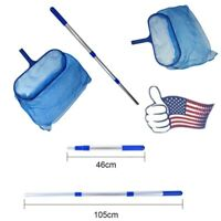 Swimming Pool Leaf Skimmer Mesh Net Cleaner Fine Deep Bag Catcher Pool Clean USA