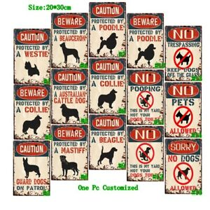 No Pooping Sign Retro Metal Tin Signs Vintage Hanging Art Wall Decor Poster