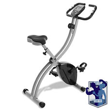 OPEN BOX - Folding Stationary Indoor Cycling Exercise Bike w/ LCD Monitor