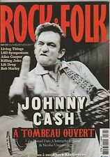 Rock & Folk N°463 mars 2006 Johnny Cash Alice Cooper Bob Marley Wilson Pickett