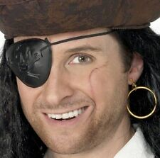 Pirate Fancy Dress Kit Eye Patch Eyepatch & Earring Set by Smiffys New