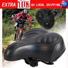Unisex Wide Big Bum Sprung Bike Bicycle Gel Cushioned Saddle Seat Soft AU Seller