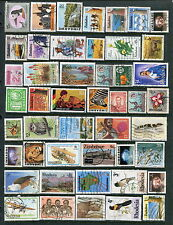 75 Different Used Rhodesia/Zimbabwe Stamps (Lot #d6)