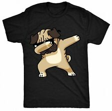 Dabbing Pug Funny Shirt DAB Hip Hop Dog Kids-Ladies-Unisex T-Shirt