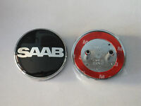 SAAB SPECIAL EDITION  68mm BOOT TRUNK REAR BADGE 2 PIN 93 95 9-3 9-5 2003-2010