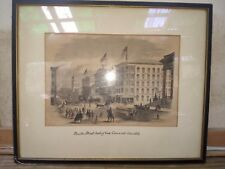 Cincinnati Ohio lithograph Numbered Old news print on back.View Pic's ON SALE!