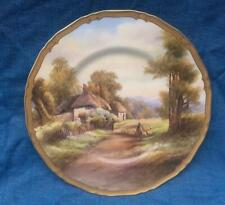 Royal Worcester Cabinet Plate- Offenham  - Hand Painted by R Rushton c 1940's