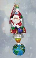 Christopher Radko *NEW* Santa's Space Race 1020090 Christmas Ornament