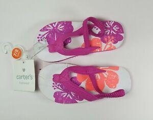 Carter's  Toddler Sandals 7/8 medium. Pink Flowers!