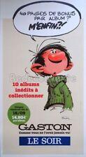 Affiche BD GASTON Franquin PLV Le Soir 65x119 cm