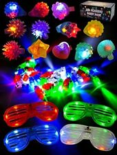 Joyin Toy 60 Pcs LED Light Up Toy Party Favour Party Pack for Party Bag Fillers