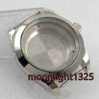 40mm 316L steel silver automatic Watch Case fit ETA 2824 2836 MOVEMENT