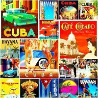 "Cuba Havana Fridge Magnet Poster Cute Art Retro Vintage City Country Photo 2x3"""