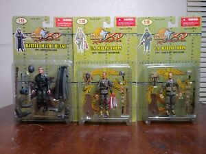 21st Century Toys Ultimate Soldier 1/18 Lot Of 3 Marine And German