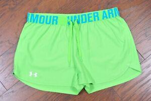 "Under Armour 3"" Play Up Shorts Green Women's Medium M"