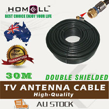 Y-RG6D 30M Black RG6 Dual Shield TV Antenna Digital Coaxial Cable  With F Plug