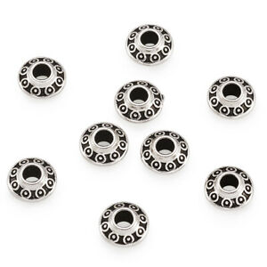 100 pcs Antique Silver Lead Free Nickel Free Tibetan Silver Spacer Beads 6.5X4mm