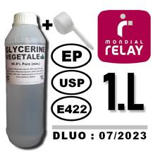 ⭐ 1 LITRE | GLYCERINE VEGETALE E422 99.8% MIN. | 1L / 1000ML +1 CUILLERE DOSEUSE