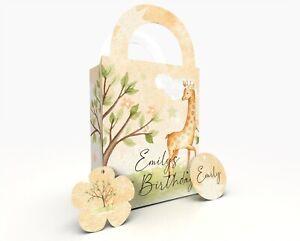 Personalised Giraffe Gift Bag, Party Bag, Party Box, Treat Bag/Box Party Favor