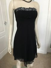 QUIZ SIZE 6 BLACK EMBELLISHED CHIFFON LAYERED PARTY DRESS IN EXCELLENT CONDITION