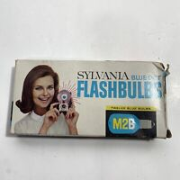 Vintage Sylvania M2B Blue Dot Flashbulbs prop box 10 bulbs
