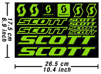 Scott Decals Stickers Bicycle Vinyl Graphics Autocollant Aufkleber Adesivi /674
