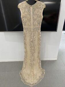 Mac Duggal Sz 10 (12aus) Wedding Gown Dress Bridesmaid Mother Of The Bride Vgc