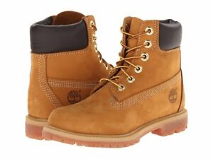 Women's Shoes Timberland 6 INCH Premium Waterproof Lace Up Boots TB010361 WHEAT
