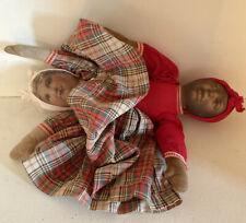 Antique Bruckner? Topsy-Turvy Litho Doll White Black Americana
