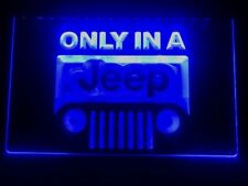 Only In A Jeep Led Neon Light Sign Home Bar Pub Decor Beer Sport Gift Advertise
