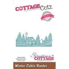"""CottageCutz Elites Die  Winter Cabin Border, 4""""X1.6"""" 818561026625"""