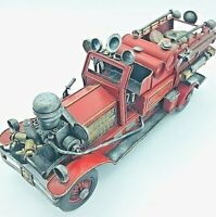 Tin fire truck Tinplate Fire engine Retro Vintage Antique Toys for adults F/S JP