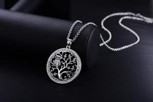 Halskette mit  Anhänger Baum des Lebens Kleine Eule