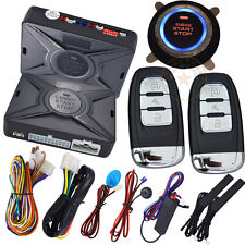 smart key system with engine push button start auto alarm car security system