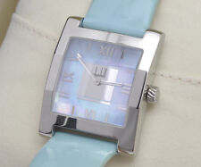 Dunhill Dunhillion steel faceted rectangular lady's watch new pristine in box