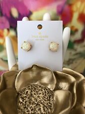 Kate Spade Opal Glitter Round Stud Earrings 12k Gold Plated Wbru9356