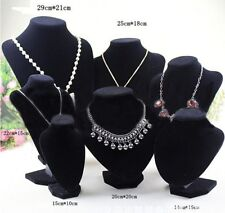 Velvet Necklace Pendant Chain Jewelry Bust Display Holder Stand Brand SD